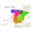 With geographical map spain