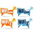 WiFi Zone WiFi Icons vector image
