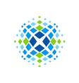 X spectrum abstract technology logo vector image