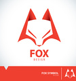 Fox symbol icon vector image