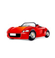 a red sports car vector image