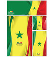 abstract senegal flag background vector image vector image