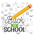 back to school set icons pattern vector image