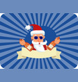 bad santa claus with two bottles of booze and vector image vector image