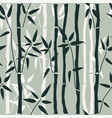 bamboo seamless pattern on green vector image vector image