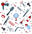 Barber and Hairdresser Tools Seamless Pattern vector image