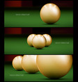 billiards banner for facebook poster design vector image