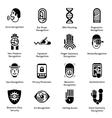 biometric authentication icons black