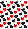 black and red heart seamless pattern colorful vector image vector image
