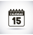 calendar reminder with day 15 vector image