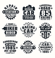car repair badges vector image vector image