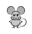 cartoon mouse with a piece of cheese vector image vector image