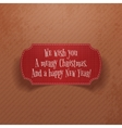 Christmas and New Year vintage red greeting Card vector image vector image