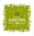 christmas greetings card with typography and vector image
