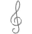 clef vector image vector image