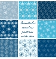 collection snowflake patterns vector image