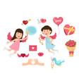 cupid valentine set vector image