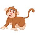 cute monkey cartoon posing vector image vector image