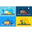 Delivery transport truck van and vector image vector image