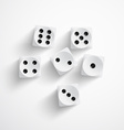 Dice on white background vector image