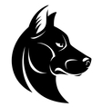 Dog head symbol vector image vector image