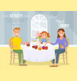 family home tea concept flat vector image