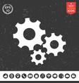 gears wheel - settings icon vector image