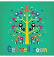 get well soon card vector image vector image