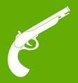 gun icon green vector image