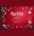 happy holidays card vector image vector image