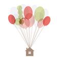 home air balloon thread vector image