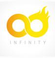 infinity flame logo vector image