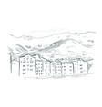 innsbruck austria europe sketch city line art vector image vector image