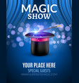 Magic Show poster design template Magic show vector image vector image