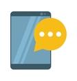 mobile device bubble speech dialog vector image vector image