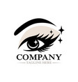 modern beautiful female eye and eyelashes logo vector image vector image