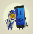 modern smartphone grandson vector image