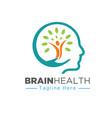 nature mind care health logo designs vector image