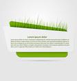 Origami banner Idea grass concept vector image