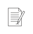Outline document icon isolated on white vector image vector image
