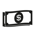 paper dollars sign black vector image vector image