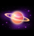 planet in deep space vector image