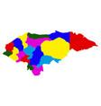 politicla map of honduras vector image vector image
