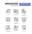 psychology concept - line design style icons set vector image vector image