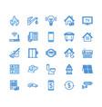 public utilities flat line icons rent receipt vector image vector image