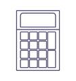 purple line contour of calculator icon vector image