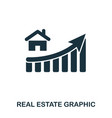 real estate increase graphic icon mobile apps vector image