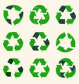 recycle reuse arrows set - ecology icons vector image vector image