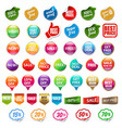 sale and discount labels set isolated vector image