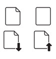 set basic paper or document icon vector image